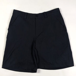 Under Armour Bent Grass Mens Size 34 Black Shorts